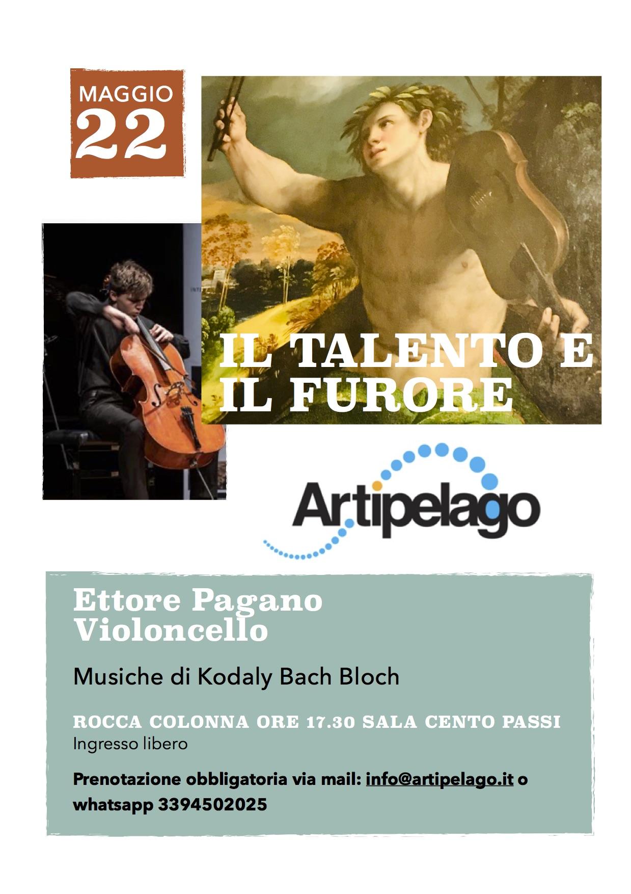 Locandina del concerto di Ettore Pagano il 22 maggio 2021